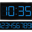 Vector Blue Digital Clock — Stock vektor