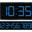Vector Blue Digital Clock — Stock Vector #6755608