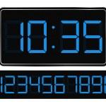 Vector Blue Digital Clock — Stock Vector