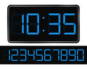 Vector Blue Digital Clock — Stock Vector