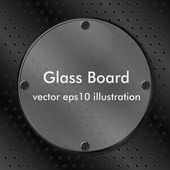 Glass Board — Stock Vector