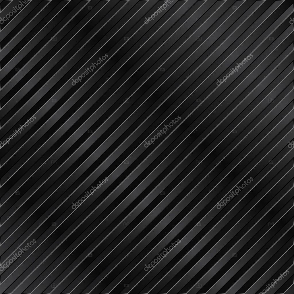 Black metal striped background — Stock Vector #6825017