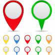 Map Markers — Vector de stock #6852568