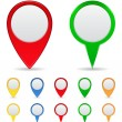 Map Markers — Stock vektor #6852568