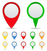 Map Markers — Vector de stock