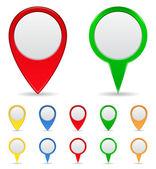 Mappa di marcatori — Vettoriale Stock