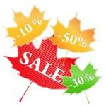 Vector Maple Stickers — Stock Vector #6910823
