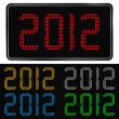 Vector digits of new year 2012 — Stock Vector