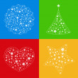 Royalty-Free Stock Vector Image: Vector shapes made of transparent stars
