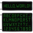 Vector Green Digital Font — Stock vektor