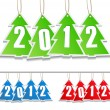 Stock Vector: Vector New Year Tags