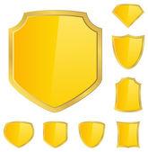 Golden Shields — Stock Vector