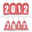 Vector New Year Tags — Stockvektor