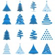 Abstract Chirstmas Trees — Stock Vector