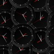 Seamless clock background — Vector de stock