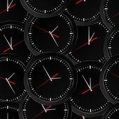 Seamless clock background — Stock Vector