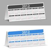 2012 skrivbord kalendern — Stockvektor