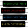 Stock Vector: Digital display with merry Christmas text
