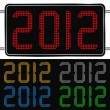 Stock vektor: Vector digits of new year 2012