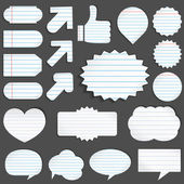 Paper Objects — Stock Vector