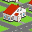 Isometric house - Stock Vector