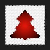 抽象パズル ツリー — ストックベクタ