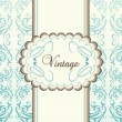 Royalty-Free Stock Vector Image: Vintage menu vector background with blue elements