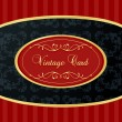 Vintage background with red and golden elements vector — Stock Vector