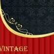 Vintage background with red and golden elements vector — Stock Vector #7102309