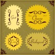 Vintage bakery labels frames and elements illustration collection — Imagens vectoriais em stock