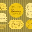 Vintage organic cheese label frames and elements illustration collection — Vector de stock