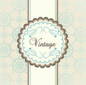 Vintage menu vector background with blue elements — Stock Vector
