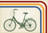 Vintage woman bike vector background — Wektor stockowy