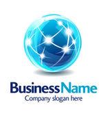 бизнес logo дизайн 3d — Cтоковый вектор