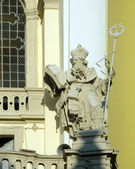 Sculpture with book — Stock Photo