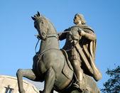 Rider's horse sculpture — Stock Photo