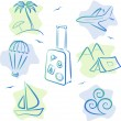 Stock Vector: Travel and tourism Icons, vector illustration