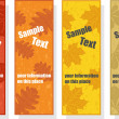 Stockvektor : Autumn bookmarks for promotion, vector illustration