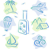 Travel and tourism Icons, vector illustration — Vettoriale Stock