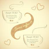 Specialerbjudande för riktiga finsmakare kaffe, vektor illustration — Stockvektor