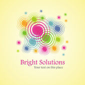 Bright solution (background from spirals) — Stock Vector