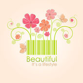 Beautiful nature style — Vector de stock