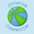 Ball planet, universal children's day - Stok Vektör