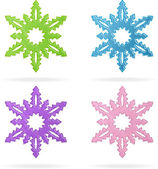 Set of snowflakes, isolated icons — Stock Vector
