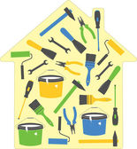 House tools (icons), vector illustration — Stok Vektör