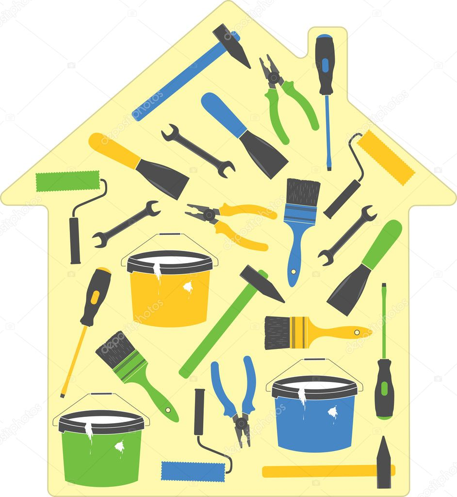 House tools (icons). Vector Illustration. — Stock Vector #7810089