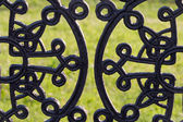 Wrought iron pattern — Stock Photo