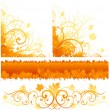 Autumn decorative design — Stock Vector