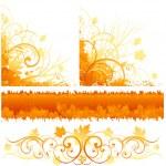 Autumn decorative design — Stock Vector