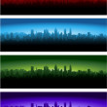 City skylines — Stock Vector #6777773